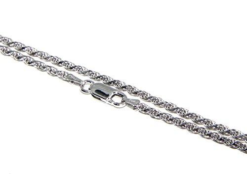 ARGENTO 925 : Girocollo collana rope chain cavetto 2.20 mm
