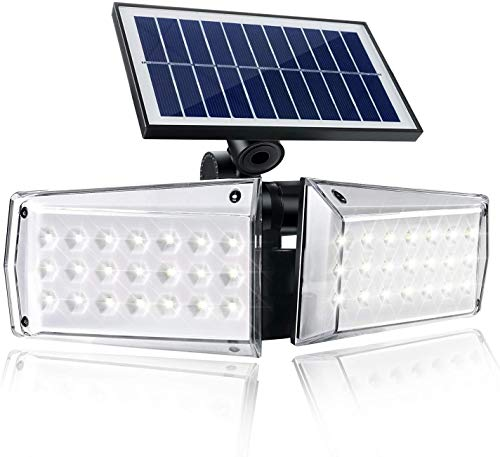 Dopwii Solar Motion-Sensor Wide-Illumination Outdoor-Lights - 42 LED 550LM IP65 Waterproof Security Flood Lights Solar Powered Detected for Garage,Porch,Yard