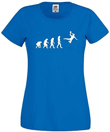 Handball Damen Evolution T-Shirt WM Shirt EM Trikotroyalblau-M