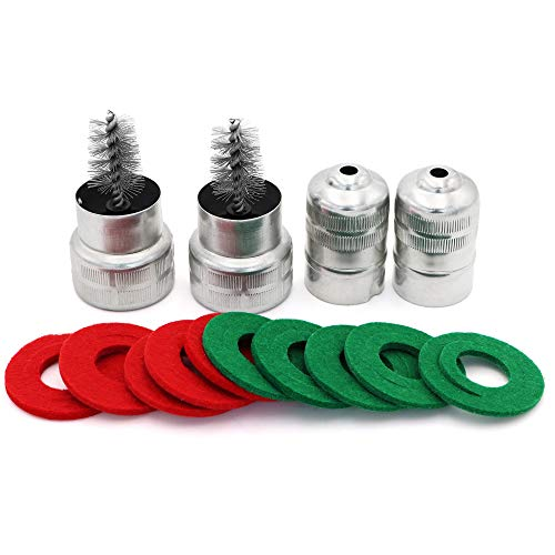 Torkettle 2pcs Battery Terminal Cleaning Brush and 10pcs Anti Corrosion Washers Fiber Protector(5 Red and 5 Green)