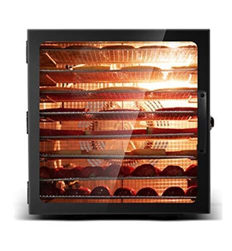 HAOT Dörrautomat,Dörrgerät, Obsttrockner Digitaler Lebensmitteltrockner Einstellbarer Thermostat 35-90 ° C mit Digitalanzeige Timer Bis zu 24 Stunden 8-Tablett-Dörrgerät für Obst, Gemüse, Fleisch