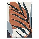 Sijifacai Moderna abstrakta tropiska växter Blommardukmålning Geometri Konst Nordiska affischer Och tryck Väggbild Vardagsrum Heminredning 50x70 cm (19,68x27,55 in) B-117