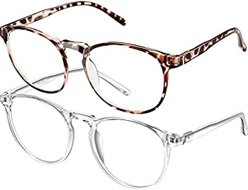 Feiyold Blue Light Blocking Round Anti Eyestrain Glasses