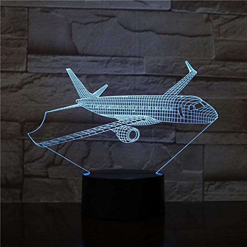 3D Airplane Model Usb 3D Led Night Light Illusion Aeroplane Kids Gift Passenger Plane Table Lamp Bedside Gift