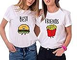 Camiseta Mejor Amiga Shirt Best Friend Moda Casual T-Shirt Friends TV Show Sudaderas Verano Mujer Hombre Básico Camisas Manga Corta Adolescentes Chicas Boyfriend tee Blusa Estampada Niña Hip Hop Top