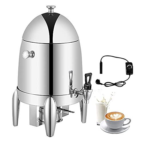 KOOWARM Urna Café Chafer 10L, Urna de Bebidas Dispensador para Bebidas frías y Calientes Calefacción eléctrica y calefacción de Aceite, Urna de café de Acero Inoxidable