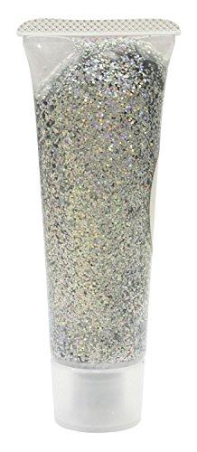 Eulenspiegel 907023 - Effekt Glitzergel Silber-Juwel, 18 ml
