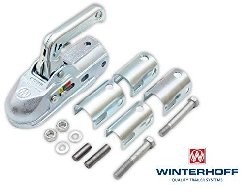 Winterhoff Kugelkupplung WW30-K+Z 3000kg Zugkugelkupplung Zugmaul Anhänger PKW Universal Zugrohr Kupplung Zugmaul Trailer