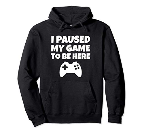 I Paused My Game To Be Here Pullover Hoodie