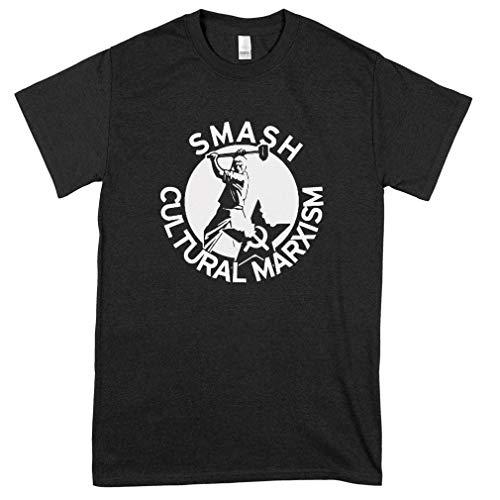 Smash Cultural Marxism Classic Guys Unisex Tee Mens Pop Culture Graphic Tees - Tee Shirt Design - Retro For Women