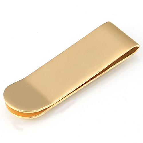 DonDon® Herren Geldscheinklammer – Goldschein