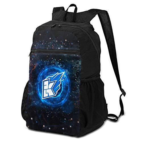 K-We-Bel-Kop Laptop-Rucksack für Damen, faltbar, Blau