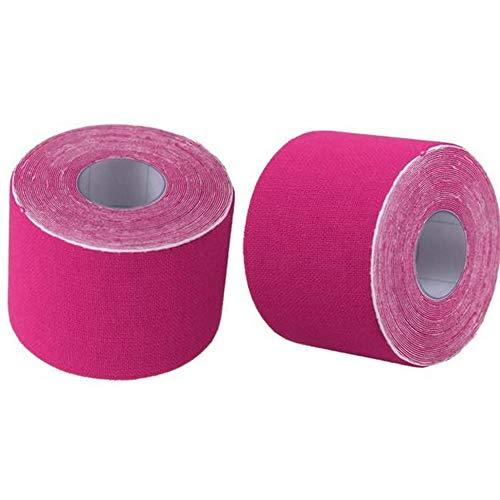 Fliyeong - Cinta elástica para deportes o actividades al aire libre, 2 unidades, color rosa