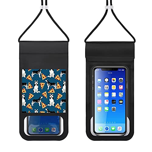 Waterproof Mobile Phone Package Cell Phone Dry Bag with Lanyard Phone Case Outdoor Swimming Phone Bag Husky Cute Dog Design Best Dogs