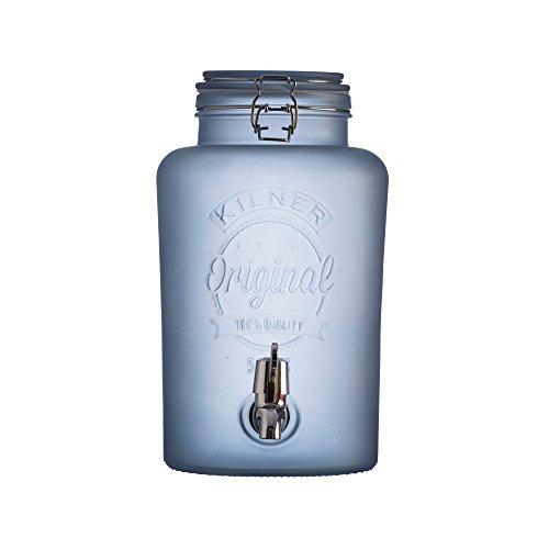KILNER - Dispensador de bebida, vidrio, azul, 5 L