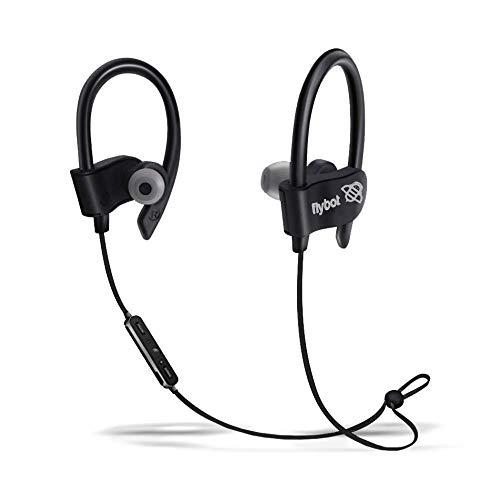 Flybot Wave in-Ear Sport Wireless Bluetooth Earphone with Mic and IPX4 Sweatproof - (Black)