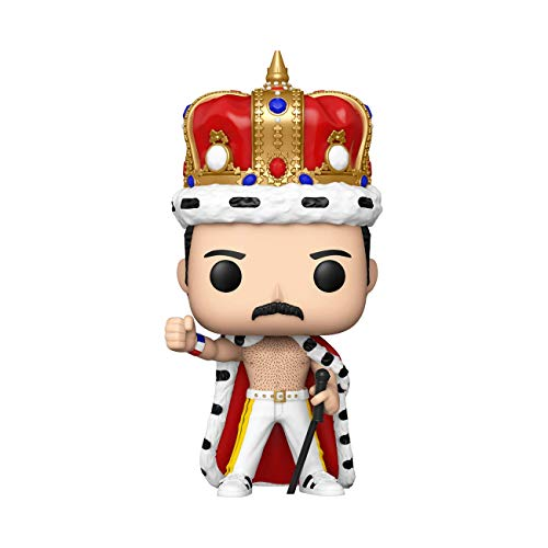 Funko- Pop Rocks: Freddie Mercury King Figura da Collezione, Multicolore, 50149