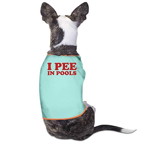 Jiaojiaozhe I Pee in zwembaden Pet Service Pet Clothing Funny Dog Cat Kostuum Black, L, Blauw