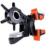 Presch Pince emporte-pièce pour cuir - Poinçonneuse revolver manuelle à démultiplication pour perforer feutre, textiles, papier et carton - Outil professionnel