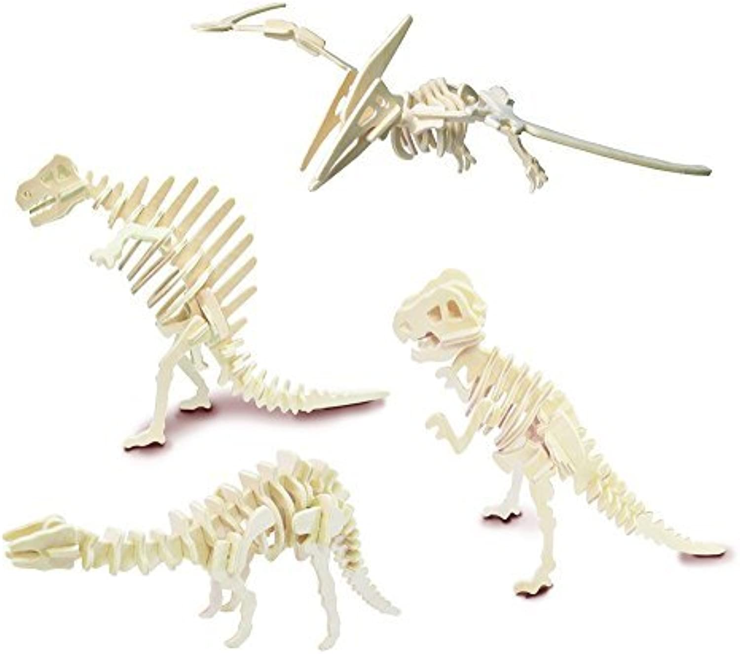 Dinosaur Set 4 - QUAY Woodcraft Construction Kit FSC by Quay