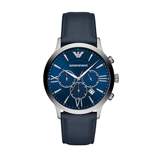 Emporio Armani Herren Chronograph Quarz Uhr mit Edelstahl Armband AR11226