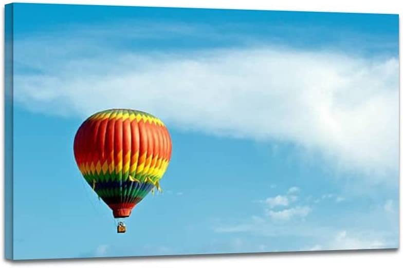 Wall Art Picture on Canvas Hot Time sale blue Super beauty product restock quality top! Pos Framed sky ballon air