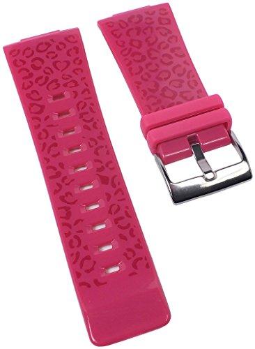 Correa de repuesto para reloj Casio Baby-G de mujer Leopard Pattern de resina rosa BGA-200LP
