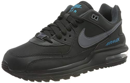 Nike Unisex-Child Air Max Wright Gs Sneaker, Anthracite/Cool Light Current Blue, 38 EU