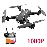 LHTE Professionnel Folding aérienne Drone, Drone, 1080P HD caméra, positionnement Flux Optique, WiFi FPV, Pliable quadrirotor Hélicoptère, Drone me Suit,Noir