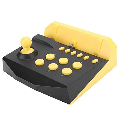 Joystick diseñado con botón Home, Controlador de Juego basculante de Material ABS Vintage, para Interruptor(Yellow)