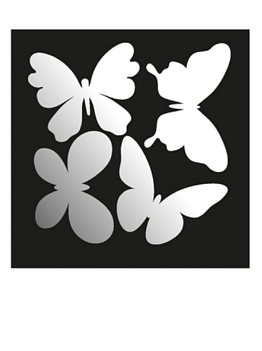 BebeGavroche Decorative Miroir Butterflies, 20 x 20 cm