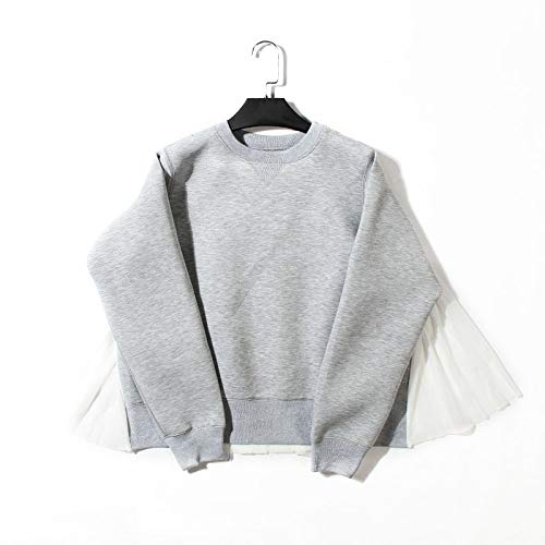 HOSD Silueta Paraguas Forma suéter Jersey Costura en de Pliegues suéter Manga Larga de Mujer