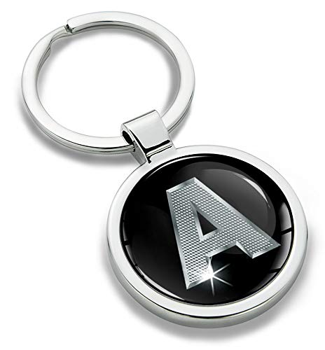 Biomar Labs® Llavero con Iniciales Personalizadas del Alfabeto de Metal en 3D, Plata para Hombres y Mujeres, Regalo de la Letra A KK 1