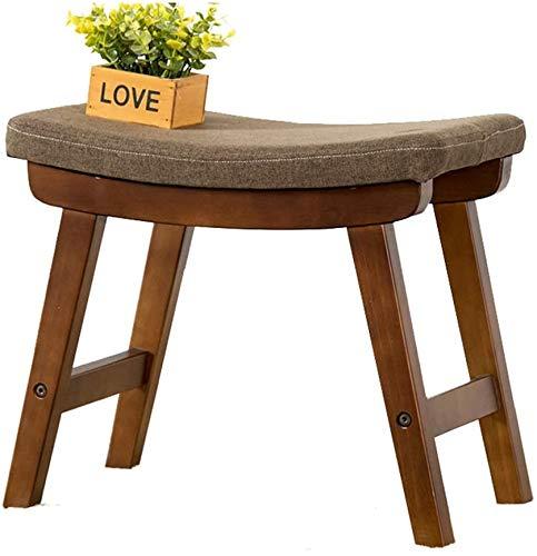 FANQIE Muebles para el hogar y el jardín tapizado reposapiés/vestirse heces de Mesa con Bancos tapizados, Asientos cóncavos, el Cambio de la Superficie del Zapato,Brown