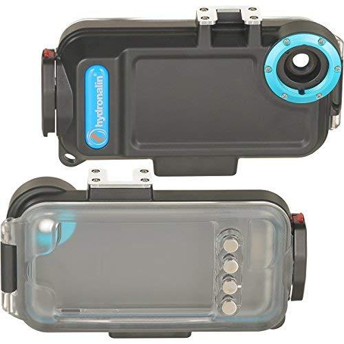 Cámara subacuática para iPhone SE, 5 y 5S, carcasa sumergible y filtro rojo subacuático de 40 metros, impermeable, funda protectora impermeable para buceo, 1 unidad