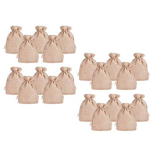 Laileya 20pcsSet Linen Drawstring Bag Jewelry Gift Pocket Jewellery Small storage bag Pouch Snacks Storage Pack
