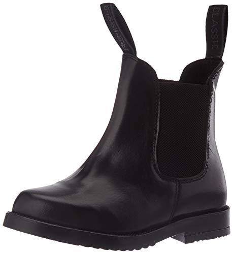 Rhinegold Unisex — młodzieżowe Comfey klasyczne buty jodhpur, Czarny, 31 EU