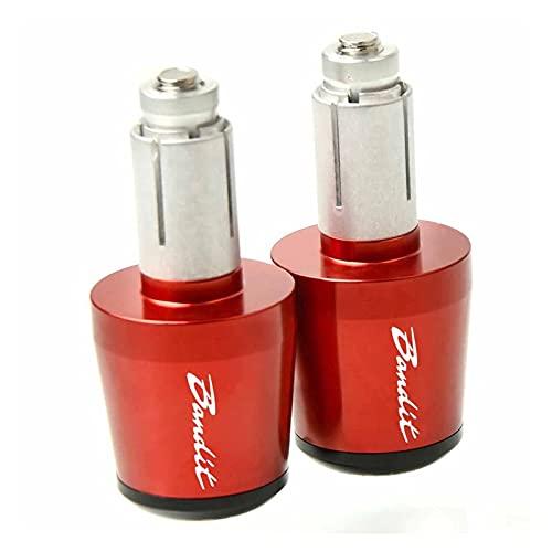 End Cap Plug 22mm 7/8'manija De La Motocicleta Barra Pesas del Extremo del Manillar Tapa para Suzuki Bandit S 600s 1200s GSF 250600 600S 650S 1250 Bandit (Color : Red)