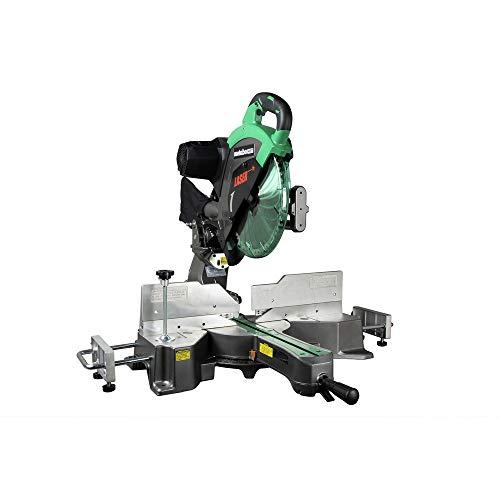 """Metabo HPT 12"""" Sliding Compound Miter Saw, Double Bevel, Laser Marker, Compact Slide System, 15-Amp Motor, Large Sliding Fences, 5 Year Warranty (C12RSH2S)"""