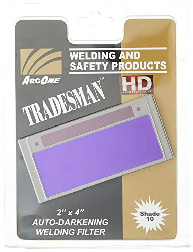 "ArcOne T240-10 Tradesman Horizontal Auto-Darkening Filter for Welding Helmets, 2 x 4.25 x 0.2"""