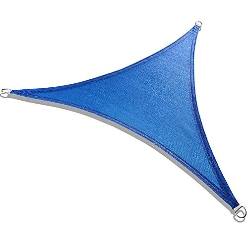 XFY Cool Area Toldo Vela de Sombra Triangular 3 x 3 x 3 Metros, Protección Rayos UV, Resistente y Transpirable para Patio Exteriores Jardín
