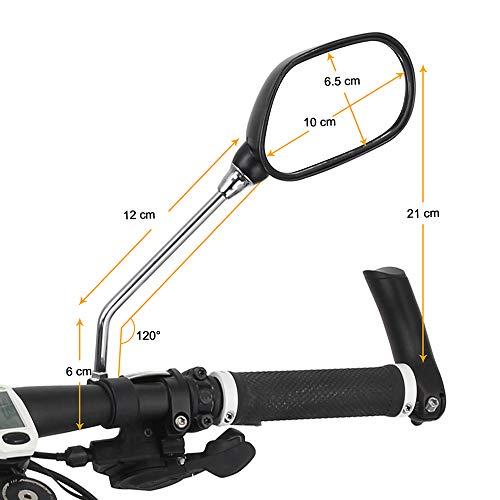 Arkham Fahrradspiegel Rückspiegel Genaration 2.0 für Fahrrad Motorrad E-Bike - 2