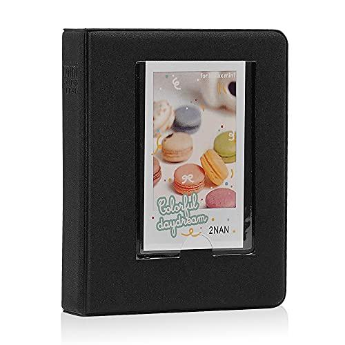 Cpano 64Bolsillos álbum de Fotos para Fujifilm Instax Mini 87S 8+ 9252650s 90 SP-2 SP-1, Polaroid Z2300 PIC-300P de 3 Pulgadas Polaroid películas y Tarjeta de Nombre (Negro, 64 Bolsillos)