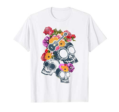 Disney Pixar Coco Skulls And Roses T-Shirt