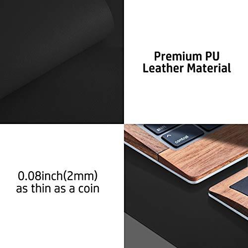 """Leather Desk Pad Protector,Mouse Pad,Office Desk Mat, Non-Slip PU Leather Desk Blotter,Laptop Desk Pad,Waterproof Desk Writing Pad for Office and Home (Black,31.5"""" x 15.7"""") Photo #6"""