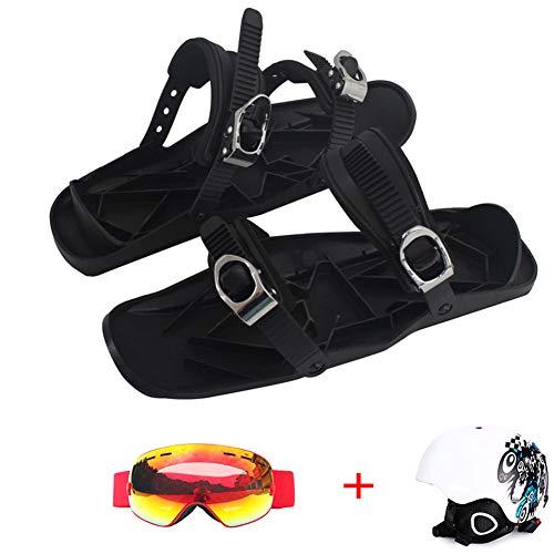 GPFDM Mini Ski Skates - Wintersportausrüstung Outdoor-Snowboard-Skischuhe, Perfekt Kombiniert Mit Schuhen, Großartige Wintersportausrüstung Für Outdoor-Skifahren, Passend Für Alle,F2