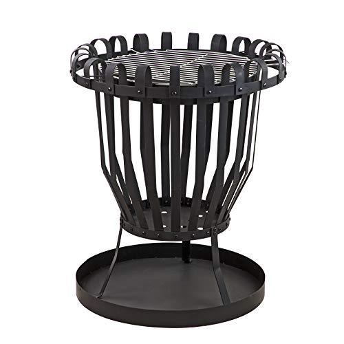 DEMA Feuerkorb Feuerstelle Feuerschale mit Grillrost Grill XXL