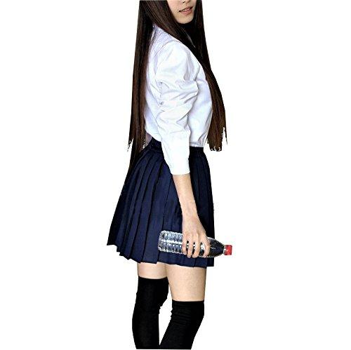 『【SWEET ROSE】リアル コスチューム 女子高校生 制服 コスプレ衣裳 リボン紐タイプ ニーハイソックス付き (L)』の2枚目の画像