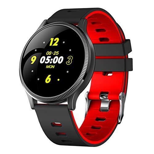 AKY MK08 Waterproof Smart Watch, los Hombres están equipados con medición de la presión Arterial y un rastreador de ritmos cardíaca, múltiples Modos Deportivos Reloj Inteligente para Android iOS,B