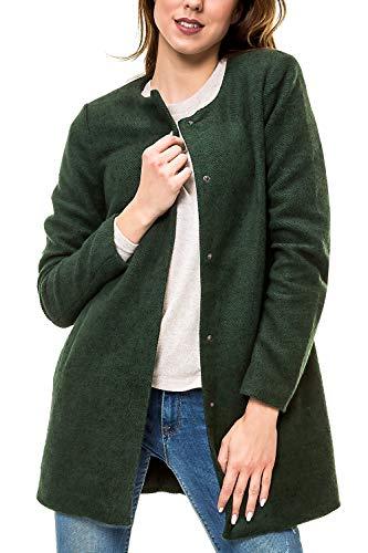 ONLY Damen Kurzmantel Übergangsmantel Leichter Mantel Übergangsjacke (42 (Herstellergröße: XL), Pineneedle/Melange)